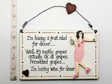 Fruit Salad Plaque Sign Novelty Birthday Gift Ideas for Friends Mum Her