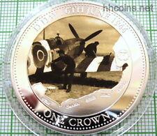 TRISTAN DA CUNHA 2014 CROWN D-DAY NORMANDY 70yrs ANNIV, AIRCRAFT PROOF CAPSULE