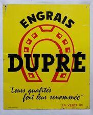 Ancienne tôle publicitaire Engrais DUPRÉ à Montfavet - Vaucluse - fer à cheval
