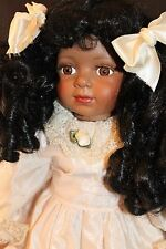 """20"""" Emerald  Doll Collection African-American Doll  Porcelain/Cloth"""