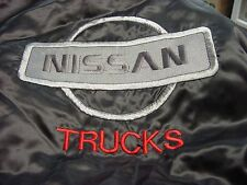NISSAN Trucks   Black Satin embroidered Jacket Adult  3 XL