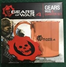 NEW LIMITED EDITION GEARS OF WAR 4 MUG & COASTER SET (BEST BUY EXCLUSIVE) RARE