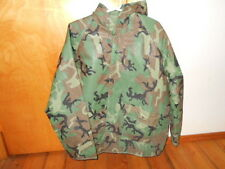 GREEN CAMOFLAGE QUILT LINED VINYL JACKET~SPORTSMAN'S~Mens Medium~Hooded