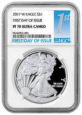 2017-W Proof American Silver Eagle NGC PF70 UC First Day Issue PRESALE SKU45267