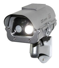 Solar Powered Fake Dummy CCTV Security Camera With Human Sensor Flash LED Lights