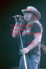 Ronnie Van Zant 1977 Lynyrd Skynyrd 8 X 10 Color Concert Photo 2 Lakeland,FL