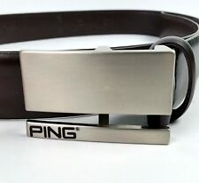 PING Mens Brown Leather Belt Size 40 Model X-P7001 EUC