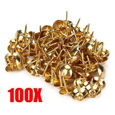 100PCS Bubble Nailed Copper Nails 1cm Drum Clout Slate Nails Antique Gate Rivet