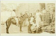 c1910 Real Photo of a Mexican Family - photo by W H Horne Co, El Paso, Texas