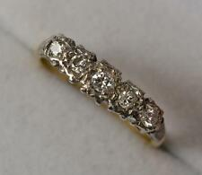 Edwardian 18ct Gold Platinum and Five Diamond Ring p0434