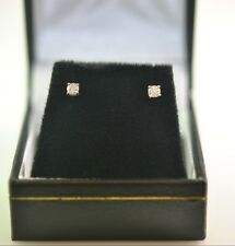 14 kt White Gold Earrings Studs with genuine Diamonds d=0.16 ct G SI1