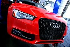 AUDI 2013-2015 A5 S5 RS5 STYLE GLOSSY BLACK MESH FRONT GRILLE