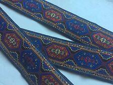 Orientalische Borte,Schwarz,Rot,Blau,Gelb,33mm,3 Meter