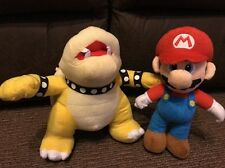 "Nintendo Super Mario Brothers Bros Party - Kart Bowser 10"" & Mario 9"" Plush Toys"