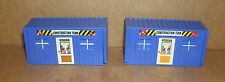 Two 1/64 Scale Construction Office Trailer Plastic Models  Work Site Accessories