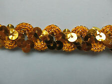 Sequin Braid 1.5cm 15mm Wide **15 COLOURS** X 1 YARD