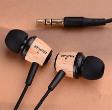 Awei Q9 Super Bass Wooden Headphone Stereo Headset Earphone For iPhone Samsung