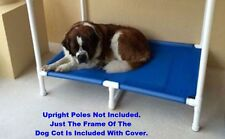 Extra Large MESH Elevated Bed 38x55 With Middle Support, Large Pet Bed, 8 Colors