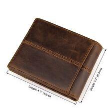 Vintage Men's Genuine Leather Purse Handbag ID Credit Card Holder Wallet Bifold