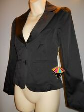 New Forever 21 Black BabyDoll Fitted Blazer Jacket Top Puff Sleeve Career Work S