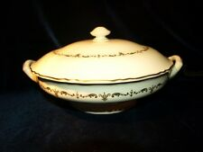 ROYAL WORCESTER GOLD CHANTILLY COVD VEGETABLE SERVER Fine Bone China