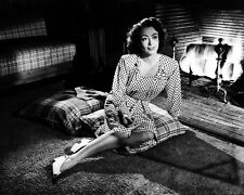 JOAN CRAWFORD B&W 8X10 PHOTOGRAPH BY FIREPLACE