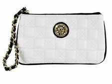 Price Cut! NWT,ONLY $30, Anne Klein-The Quilt Trip Wristlet 2 Wallet,White/Black