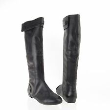 Max Studio Draping Women's Shoes Black Leather Tall Boots Size 8 M NEW MSRP $378