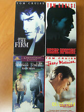4 Tom Cruise VHS: The Firm, Mission: Impossible, Rainman, Jerry MaGuire