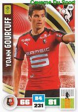 314 YOANN GOURCUFF FRANCE STADE RENNAIS.FC CARD ADRENALYN LIGUE 1 2017 PANINI