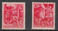 WWII Nazi Last Stamps Issued SS/SA Full Set MNH Luxe