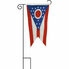 "12x18 12""x18"" State of Ohio Sleeved w/ Garden Stand Flag"