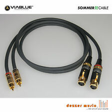 2x 0,5m Adapterkabel CARBOKAB VIABLUE- Sommer Cable XLR female Cinch...High End