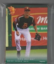 2013 Boise Hawks set KRIS BRYANT #1 Pick Chicago Cubs FIRST CARD Rookie RC #25