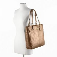 New NWT $398 Coach Gallery Embossed Leather Tote Shopper F20741 100% Authentic