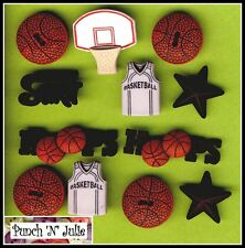 BASKETBALL  Ball Vest Net Hoops Sport Men Boy Novelty Dress It Up Craft Buttons