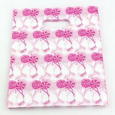 100pcs  Pink Lollipops  Plastic Bags Jewelry Gift Bag 20x25cm