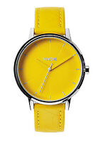 AUTHENTIC NIXON KENSINGTON LEATHER WATCH YELLOW/MOD NEW! A108 1806 A1081806
