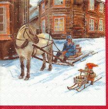 2 Serviettes en papier Gnome de Noël - Paper Napkins Christmas
