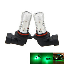 2x 9005 HB3 9011 Green 7.5W Led DRL Daytime Running Light Bulbs Projector Lens