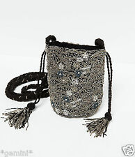 ZARA PARTY COCTAIL TASCHE PERLEN STICKEREI EMBROIDERED EMBELLISHED BEADS BAG