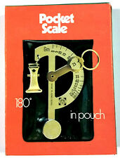 New Silver Postal Scale Pocket Hanging Tobacco 1 - 400 gram 4 oz with Pouch