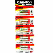 LR1  battery 1.5V  Alkaline by Camelion N  MN9100 E90  5 pack batteries exp 2023