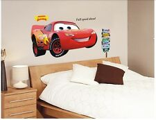 Cartoon Movie Cars Lightning McQueen3D Wall Sticker PVC Decal Kids Room Mural