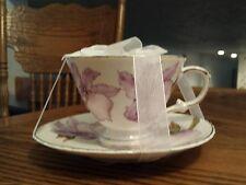 GRACE TEA WARE LIGHT PURPLE  ORCHID TEACUP AND SAUCER! ELEGANT!!  NEW