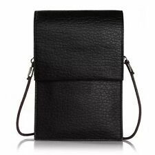 Black Lichi Shoulder Hand Bag Case Leather Pouch Purse Sleeve for iPhone 6s Plus
