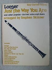 Just Way You Are 12 Pop Songs Arr EZ Clarinet Solo Duets Skinner Unmarked