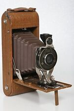 Agfa Ansco Folding Pocket Camera.  Brown Model - simulated ostrich covering
