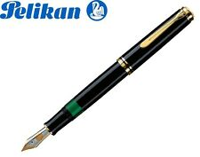 PELIKAN Souveran Plunger Fountain Pen M 1000 Black 18K Gold NIB (M)-987396