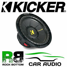 "Kicker 40CWS104 CompS 10"" inch SVC 600 Watts Single 4 Ohm Car Subwoofer Speaker"